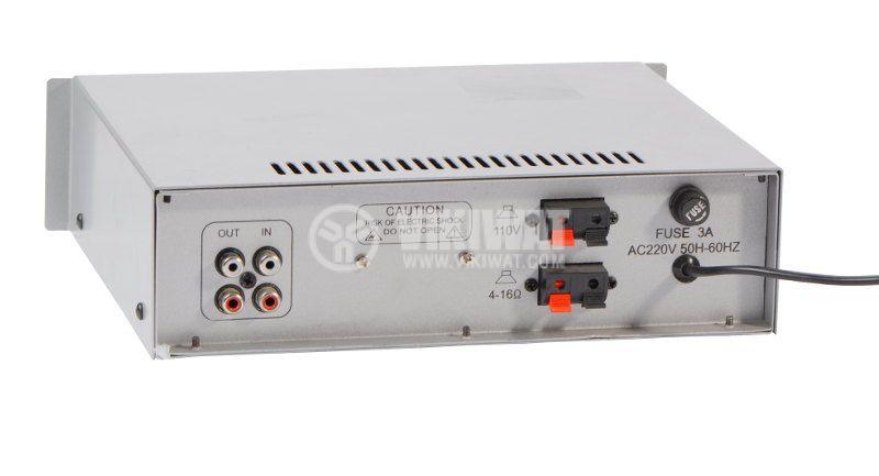 Усилвател за таванни говорители KC-UB50S, 50W, 100V, USB - 2