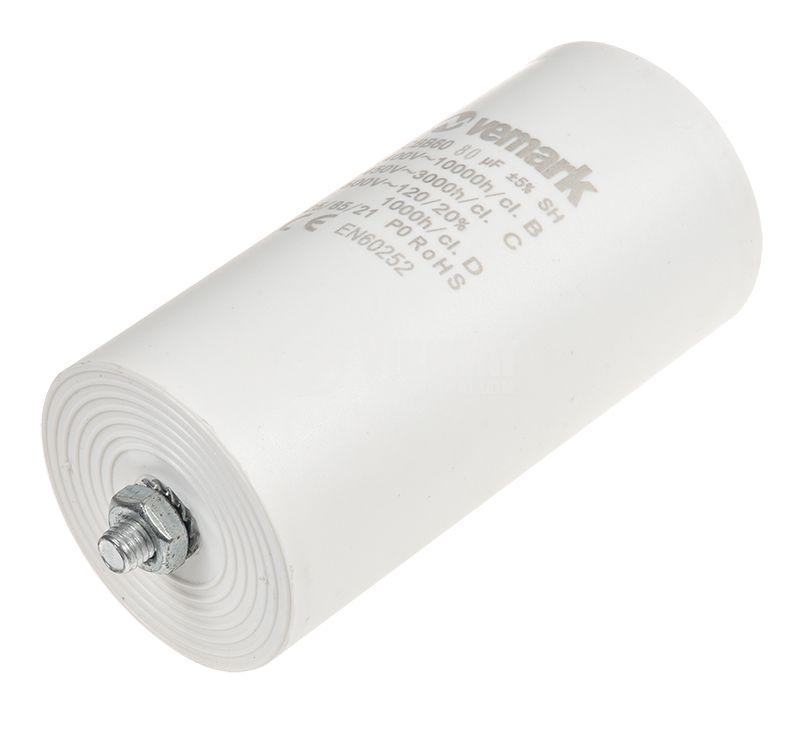 Работен кондензатор 450V 80uF 85°C изводи 6.3x0.8 - 3