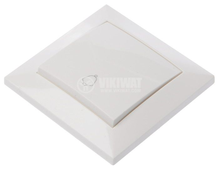 Electric Switch, white, LEXA 250 VAC, 10 A, button