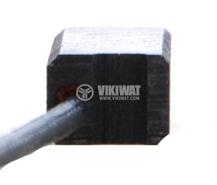 Четка въглено-графитна, SG-08-043-88, 6x8x18 mm, със страничен извод, кабелна обувка 2.8mm - 2
