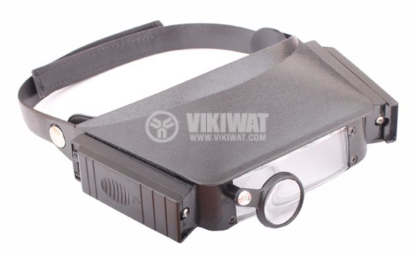 Head magnifier with light MG81007 magnification 1.8X, 2,3X, 3.7X, 4.8X