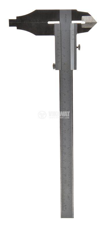 Caliper, metal, 0-200mm - 1