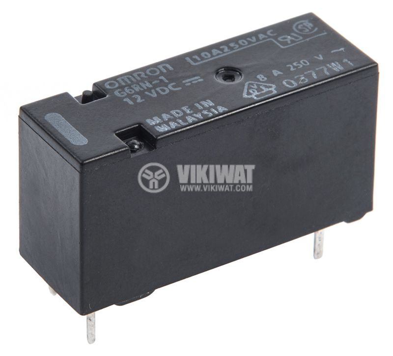 Electromagnetic relay G6RN-1, with coil 12VDC, 250VAC / 8A, SPDT - 1