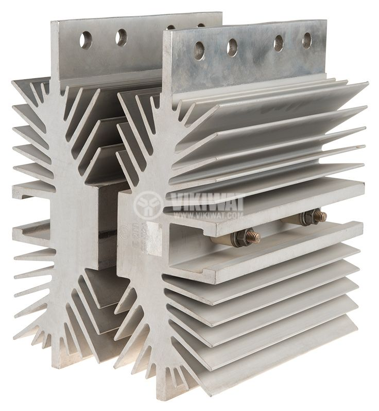 Aluminum cooling radiator, 200x190x255mm - 1