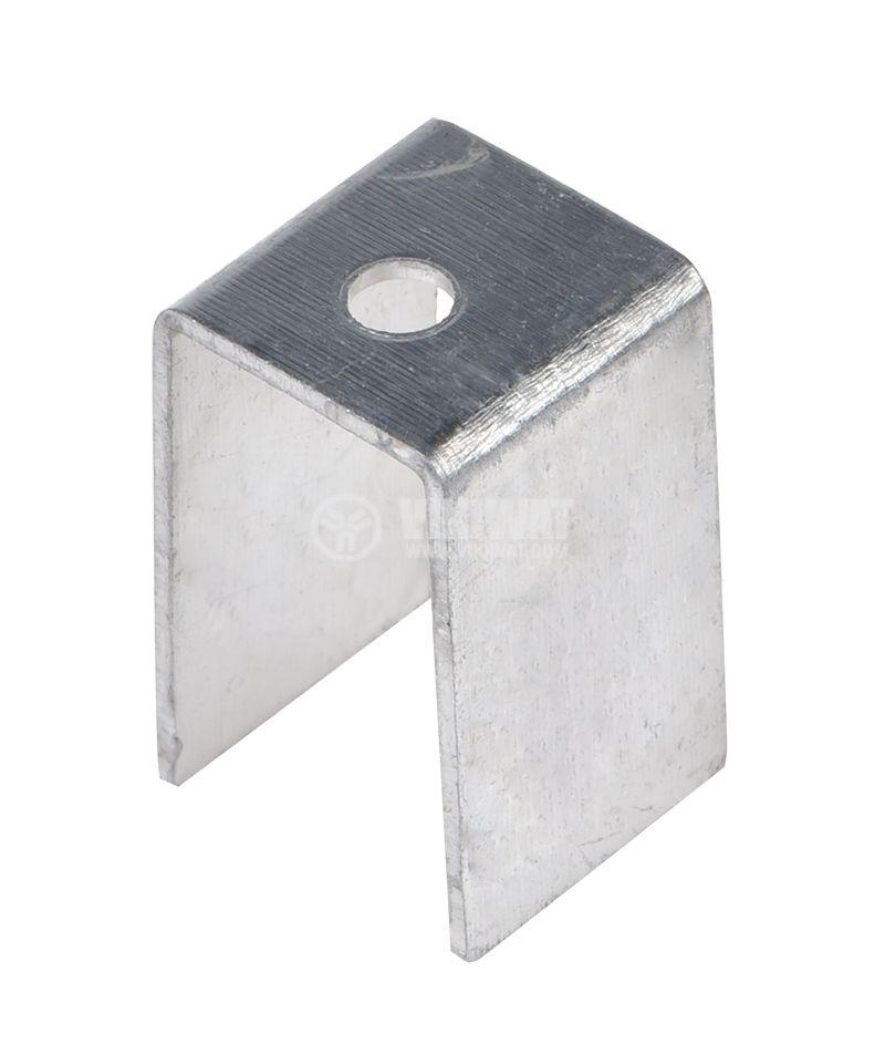 Алуминиева планка за охлаждане 20x12mm, дължина 12mm - 1
