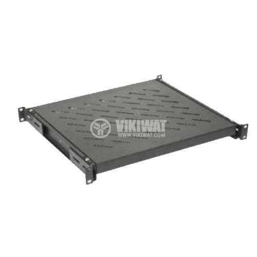 Rack shelf, 550mm, 19in, fixed, 1U
