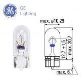 Автомобилна лампа TU 504, 12VDC, 3W, W3W, W2.1x9.5d, 22lm