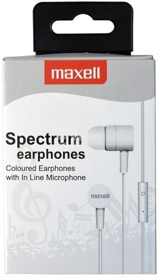 Stereo earphones MAXELL spectrum, 3.5mm stereo jack - 2