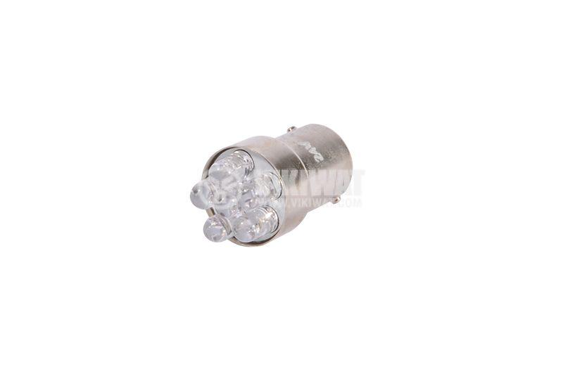 Автомобилна LED лампа, TARIFA, 24VDC, 20mA, BA15S, 6 светодиода - 1