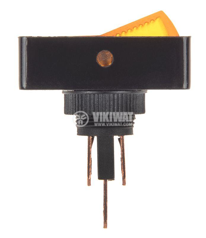 Rocker превключвател, 2 позиции, OFF-ON, 20A/12VDC, отвор ф12mm - 2