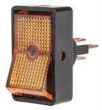 Rocker превключвател, 2 позиции, OFF-ON, 20A/12VDC, отвор ф12mm