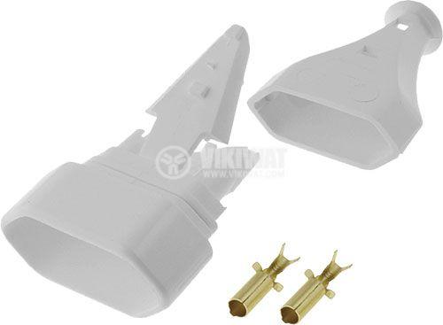 Flat Socket, 250V AC, 2.5 A, white