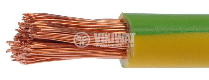 Cable 1 x10 mm2, yellow-green