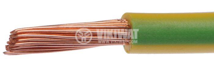 Проводник ПВ-А2 1x6mm2, жълтозелен