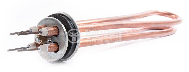 Нагревател за бойлер, тръбен, 2 X 1000W, с меден - 2