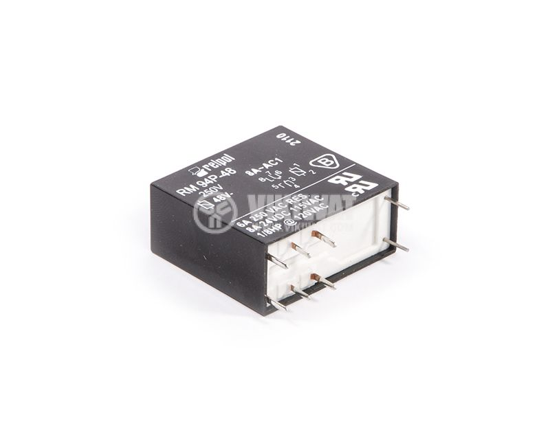 Electromagnetic relay RM 94P-48, 48VDC, 8A, 250VAC, 2NO+2NC, DPDT, PCB - 2
