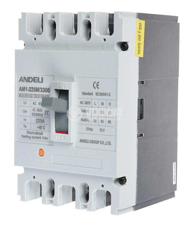Automatic circuit breaker, АM1-225M, 3P, 225 А, 400 VAC - 1