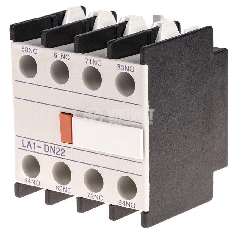 Спомагателен контактен блок, LA1-DN22, 4PST - 2NO + 2NC, 6A/380V - 1