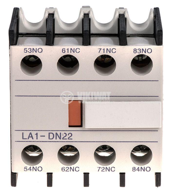 Спомагателен контактен блок, LA1-DN22, 4PST - 2NO + 2NC, 6A/380V - 2