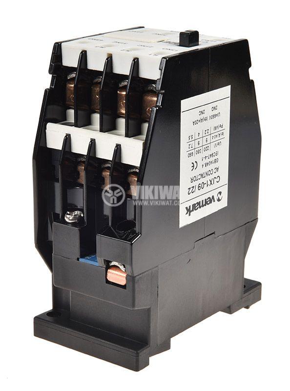 Контактор, трифазен, бобина 220VАC, 3PST - 3NO, 10A, CJX1-09, 2xNO+2xNC - 3