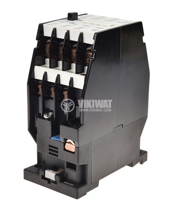 Контактор, трифазен, бобина 220VАC, 3PST - 3NO, 10A, CJX1-09, 2xNO+2xNC - 4