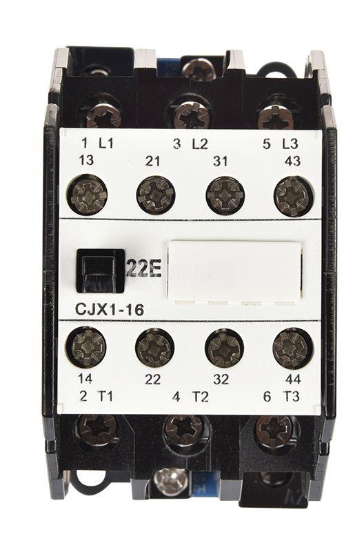 Контактор 3P,  220VAC,  16A,  CJX1-16,  2xNО+2xNC - 6