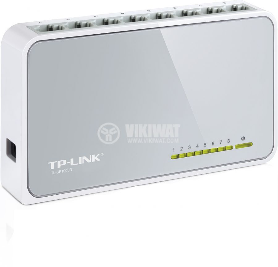 Мрежов комутатор TP-LINK, switch, TL-SF1008D, 200 Mbps - 2