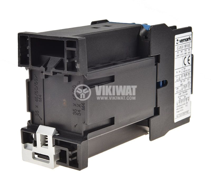 Contactor, three-phase, coil 24VDC, 3PST - 3NO, 18A, CJX2-1810Z, NO - 2