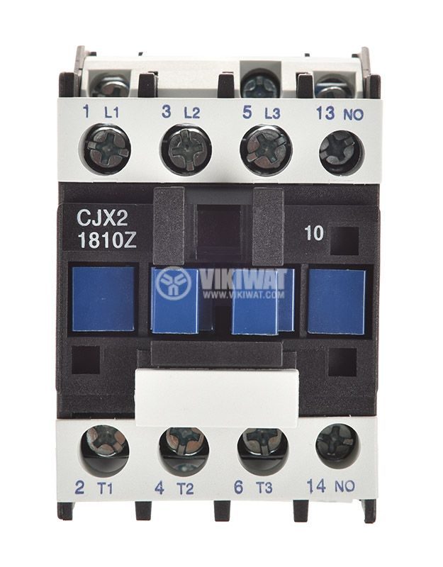 Contactor, three-phase, coil 24VDC, 3PST - 3NO, 18A, CJX2-1810Z, NO - 5