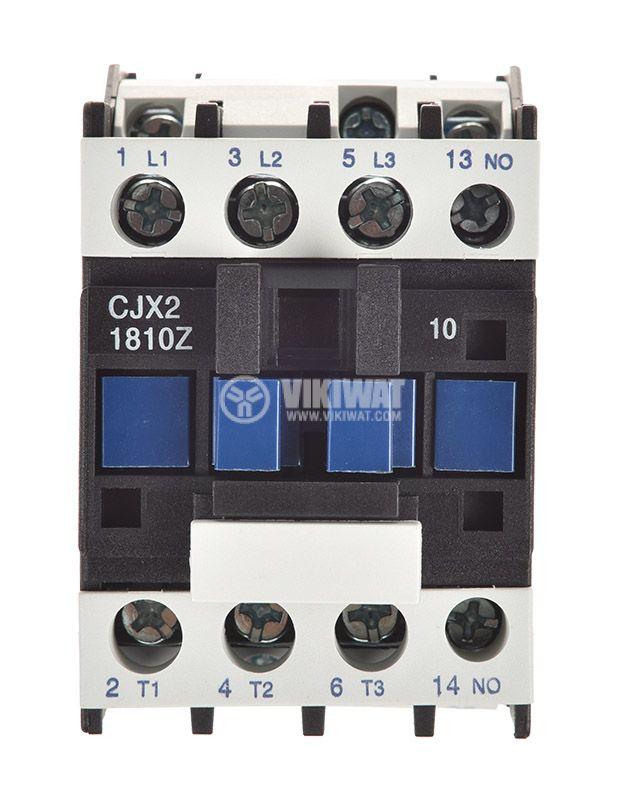Контактор, трифазен, бобина 24VDC, 3PST - 3NO, 18A, CJX2-1810Z, NO - 5