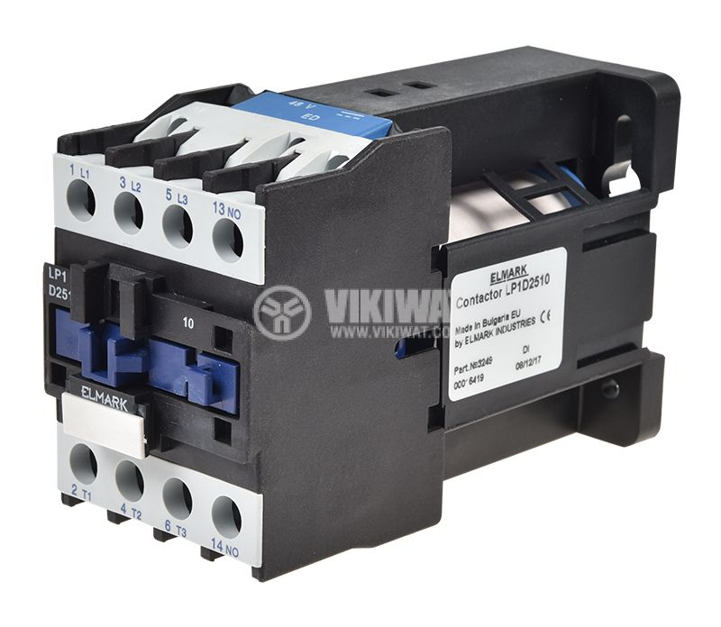 Contactor, three-phase, coil 48VDC, 3PST - 3NO, 25A, CJX2-25Z, NO - 1