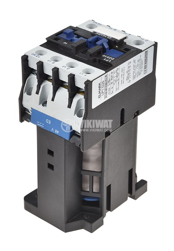 Contactor, three-phase, coil 48VDC, 3PST - 3NO, 25A, CJX2-25Z, NO - 2