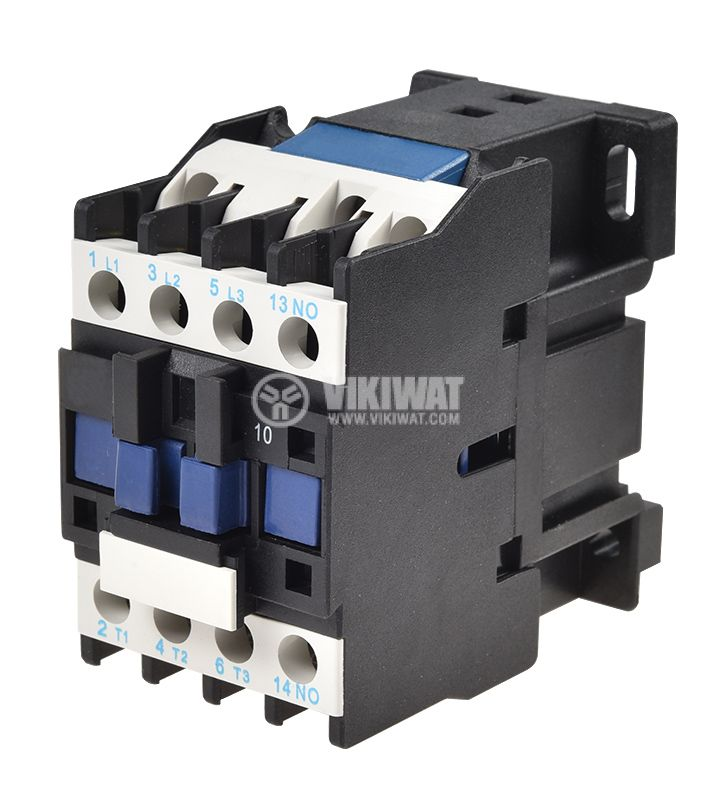 Contactor, three-phase, coil 220VAC, 3PST - 3NO, 12A, CJX2-D12, NO - 1