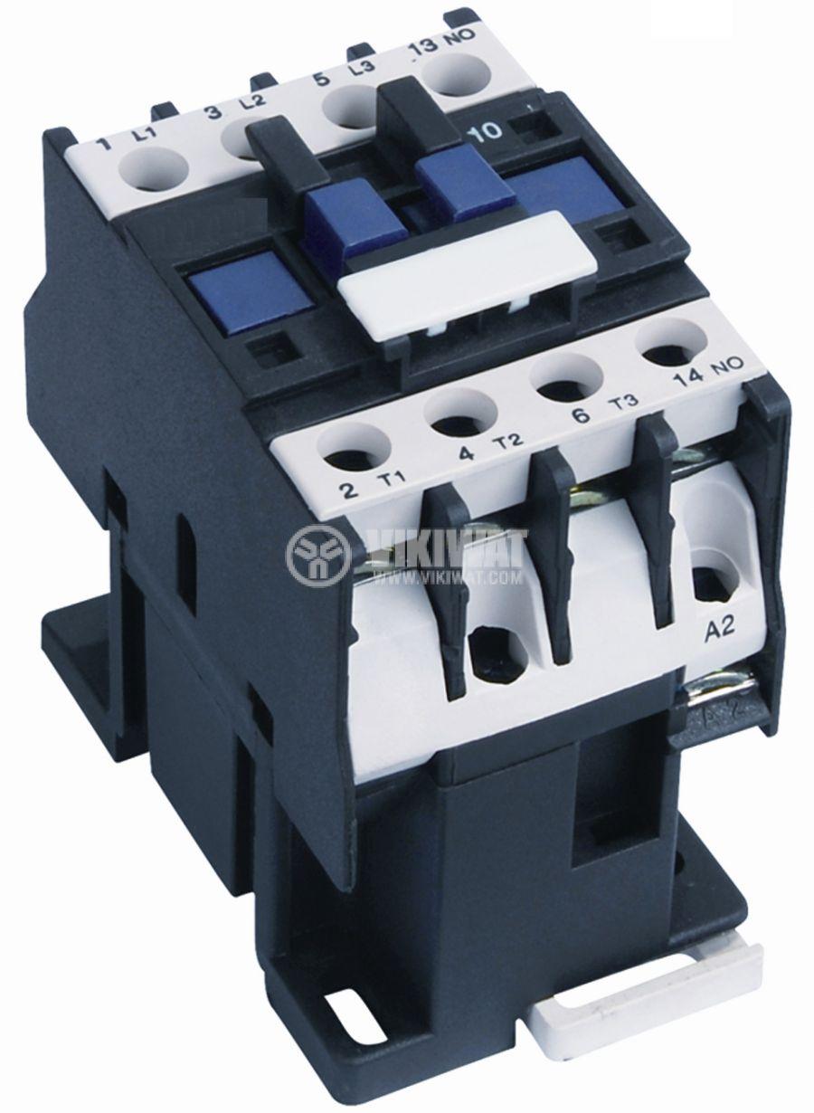 Контактор, трифазен, бобина 220VАC, 3PST - 3NO, 40A, CJX2-D40, NO+NC - 1