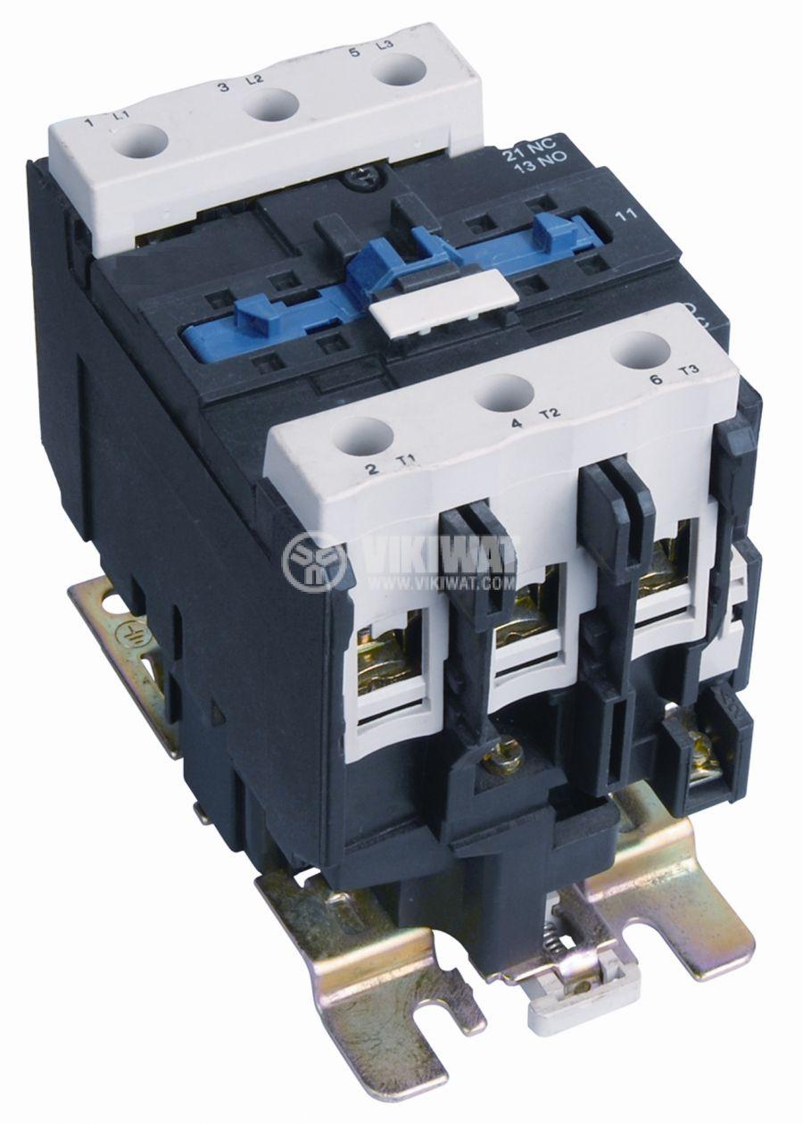 Контактор, трифазен, бобина 220VАC, 3PST - 3NO, 63A, CJX2-D6511, NO+NC - 1
