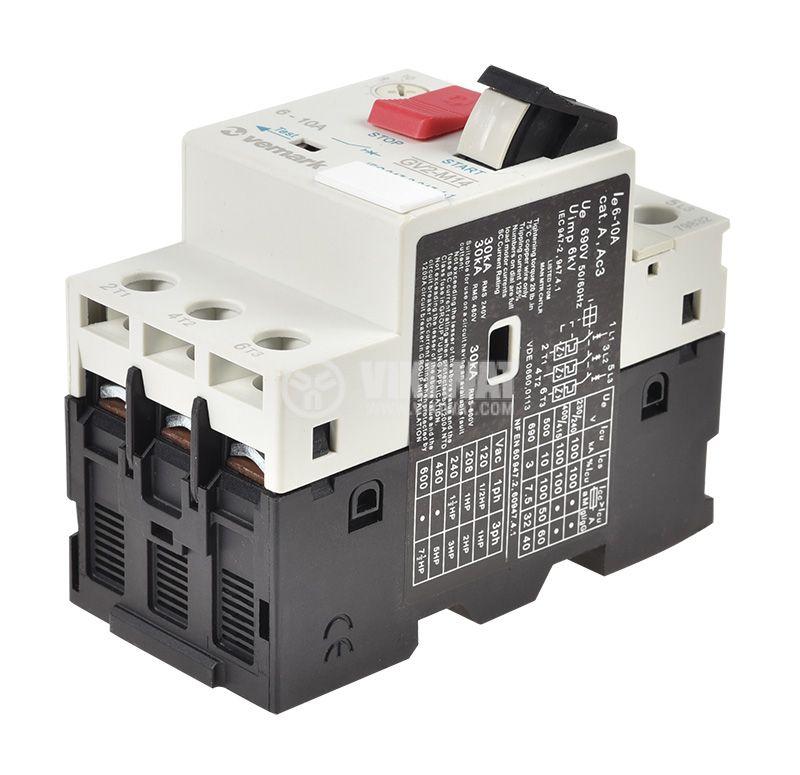 Моторна защита по ток, (АТ00) DZ518-M14, трифазна, 6-10 A - 4