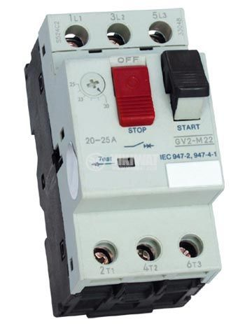 Motor protection circuit breaker (АТ00) DZ518-M21C, three-phase, 17-23 A - 1