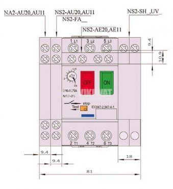 Motor protection circuit breaker (АТ00) DZ518-M21C, three-phase, 17-23 A - 3