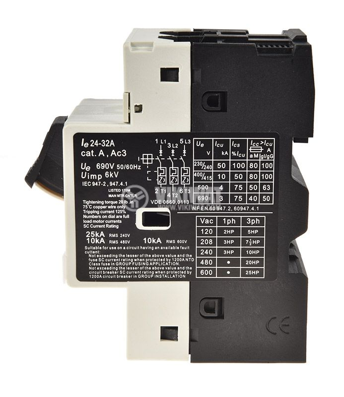 Motor protection circuit breaker GV2-M32, three-phase, 24-32 A - 2