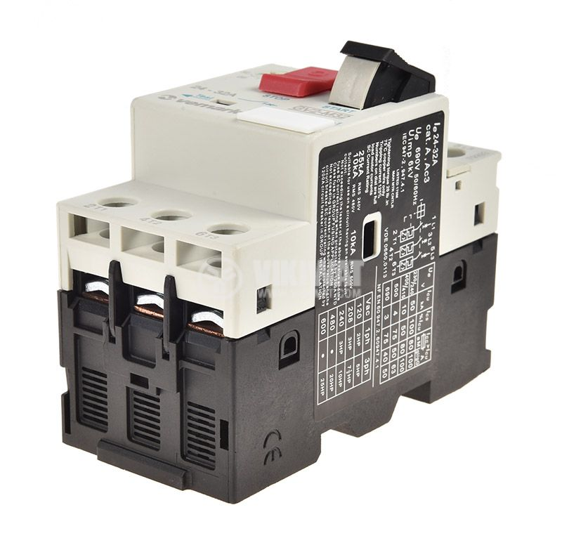 Motor protection circuit breaker GV2-M32, three-phase, 24-32 A - 4
