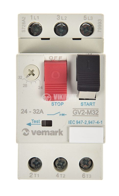 Motor protection circuit breaker GV2-M32, three-phase, 24-32 A - 5