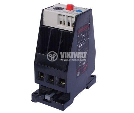 Моторна термично-токова защита, JRS2-63F, трифазна, 50 - 63 A, NO+NC, 6A/380VAC - 1
