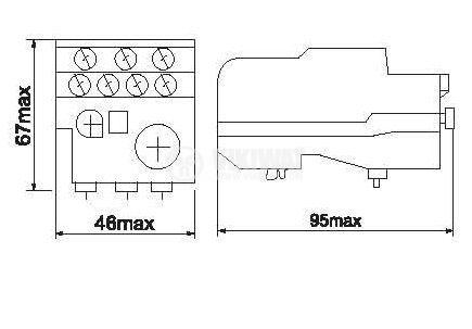 Термично реле, LR2 D13, трифазно, 2.5-4 A, 2PST - NO+NC, 10 A, 380 VAC - 2