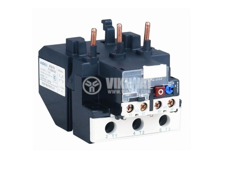 Thermal relay, LR2 D1307, three-phase, 1.6-2.5 A, 2PST - NO+NC, 10 A, 380 VAC - 1