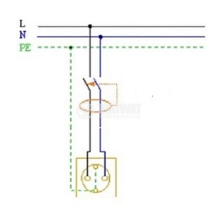Дефектнотокова защита CDL10LE-63, 230 VAC, 16 А, 30 mА - 4