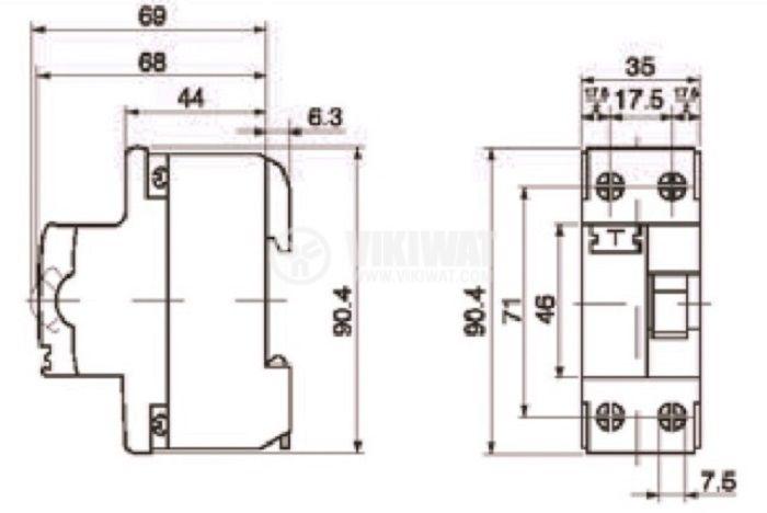 Дефектнотокова защита F362, 25 A, 30 mA - 4