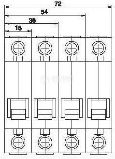 Предпазител, автоматичен, триполюсен, 3x40A, DZ47, C крива, DIN шина - 2