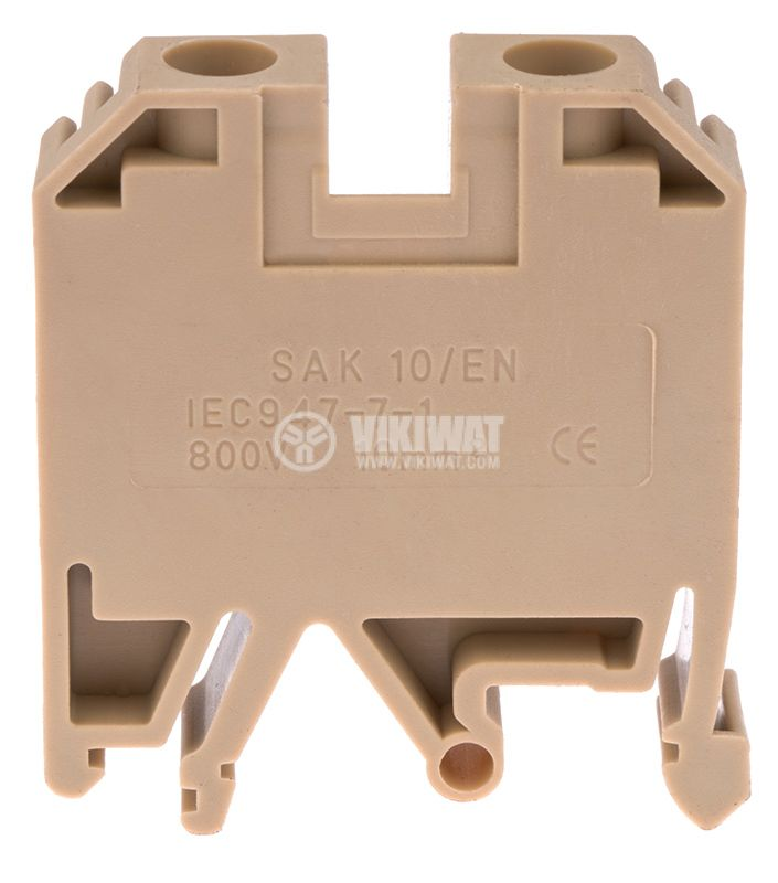 Редова клема SAK10/EN, едноредова, SAK10/EN, 10mm2, 57A, 800V, бежова - 2