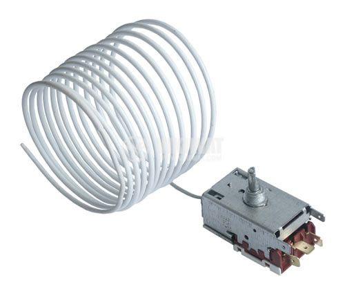 Capillary thermostat K57-L2845, -26 °C +3 °C, NO+NC, 6 A, 250 VAC