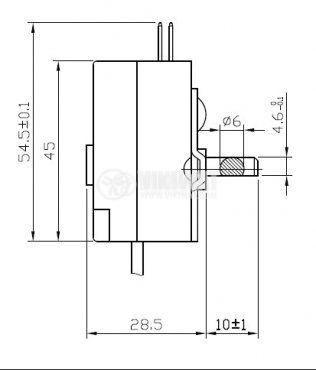 Capillary thermostat К54 (A04), -30 °C to  -11 °C, NO+NC, 6 A / 250 VAC - 2